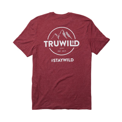 TRUWILD TEE-  HEATHER CARDINAL