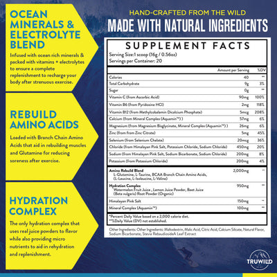Hydrate Supplement Facts
