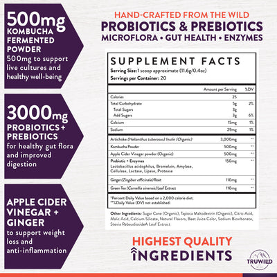 Kombucha Supplement Facts