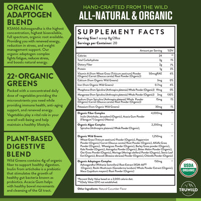 Wild Greens - Certified Organic Green Superfood