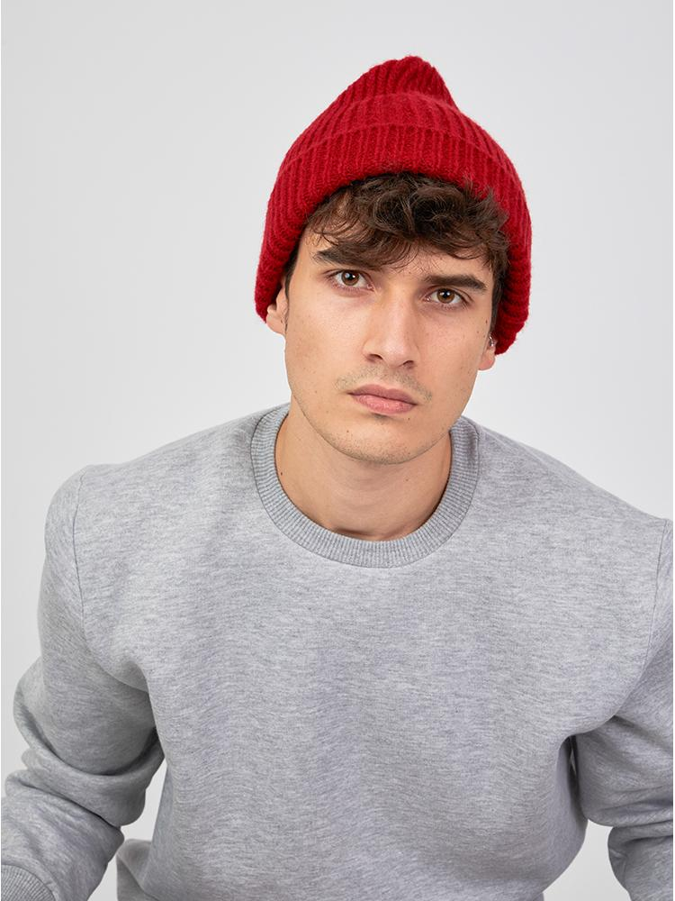 Bey Wool Beanie Red
