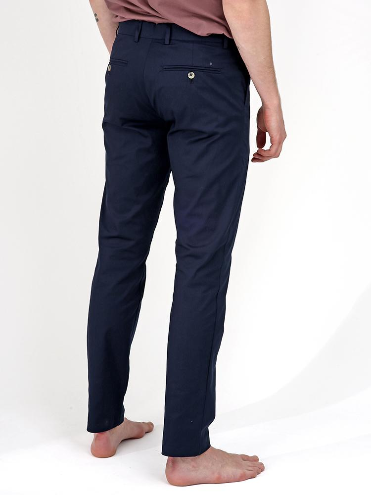 Bey Dark Blue Summer Chino Trousers