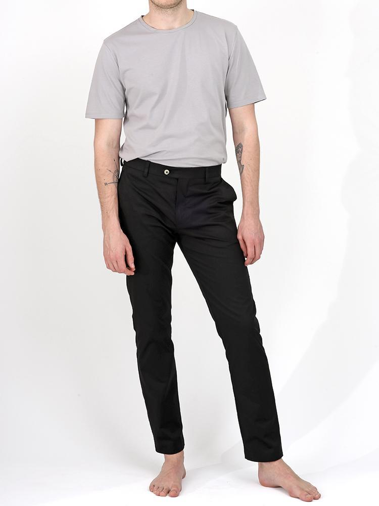 Bey Black Summer Chino Trousers