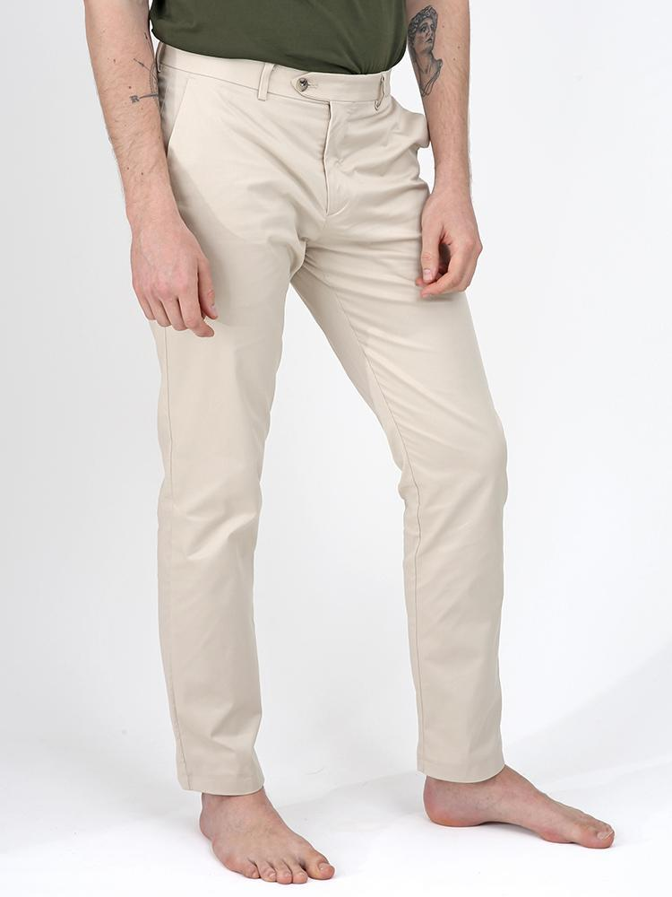 Bey Beige Summer Chino Trousers