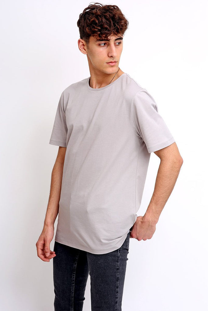 Bey Grey Cotton T-shirt