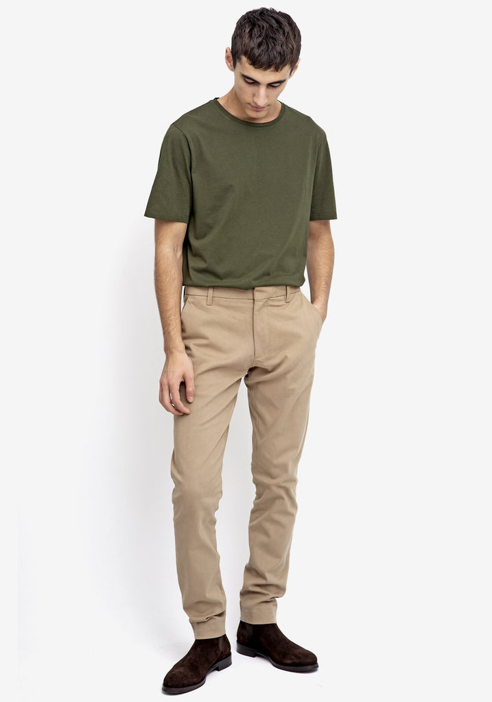 Bey Dark Beige Chino Trousers
