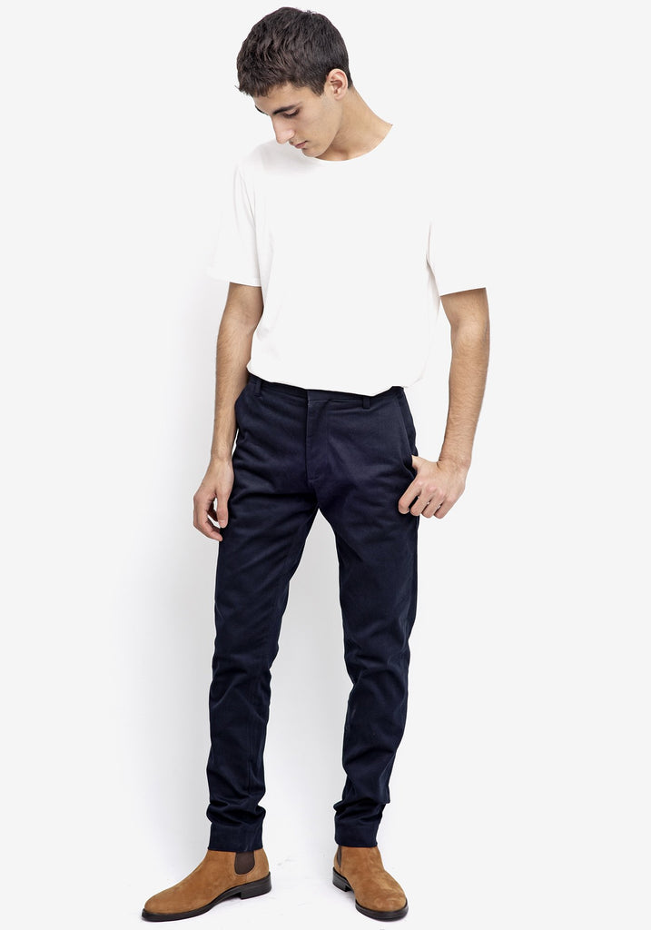 Bey Dark Blue Chino Trousers