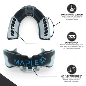 Mapley Mouth Guard Gum Shield (Black)