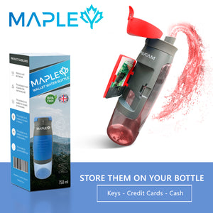 Mapley Red Sport Wallet Water Bottle
