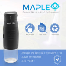 Load image into Gallery viewer, Mapley Black Sport Wallet Water Bottle