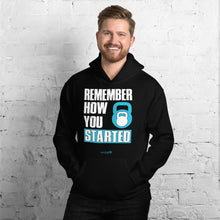 Load image into Gallery viewer, REMEMBER HOW YOU STARTED | Sports Motivational Hoodie