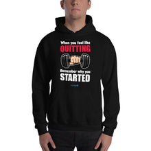 Load image into Gallery viewer, QUITTING - STARTED | Sports Motivational Hoodie