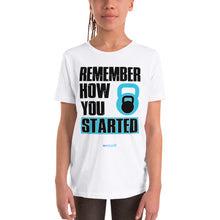 Load image into Gallery viewer, REMEMBER HOW YOU STARTED | Sports Motivational T-Shirt