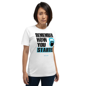 REMEMBER HOW YOU STARTED | Sports Motivational T-Shirt