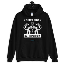 Load image into Gallery viewer, START NOW NOT TOMORROW | Sports Motivational Hoodie