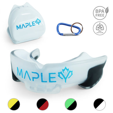 Mapley Mouth Guard Gum Shield (White)