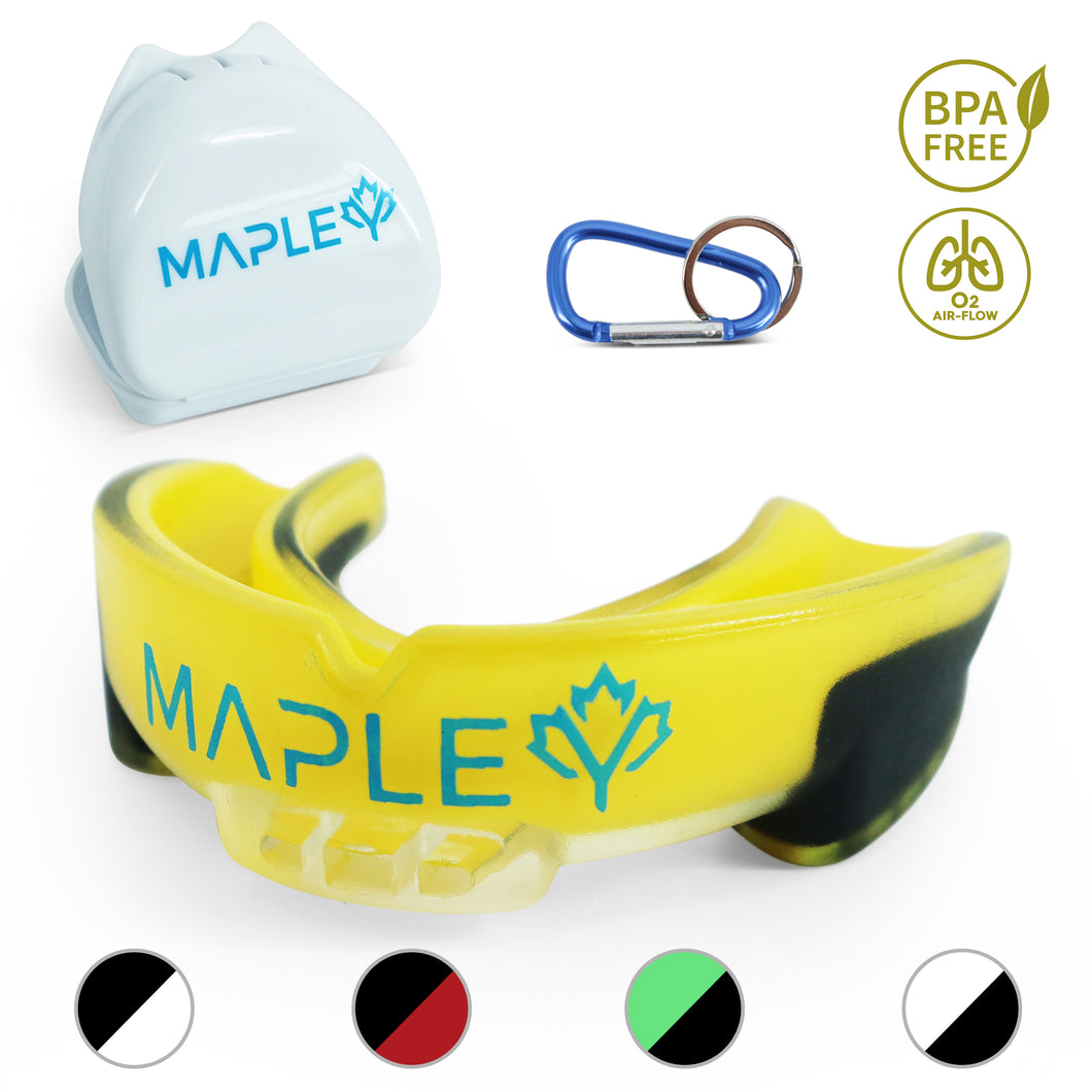 Mapley Mouth Guard Gum Shield (Yellow)
