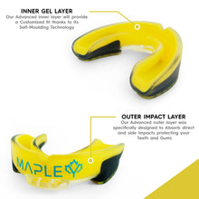 Load image into Gallery viewer, Mapley Mouth Guard Gum Shield (Yellow)