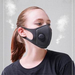 Anti-pollution Sports Mask | Adjustable Strap and Nose Clip | Maximum Pollution Filtration for Outdoor Sports