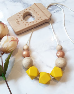 """Ivy"" Mustard Silicone Necklace"