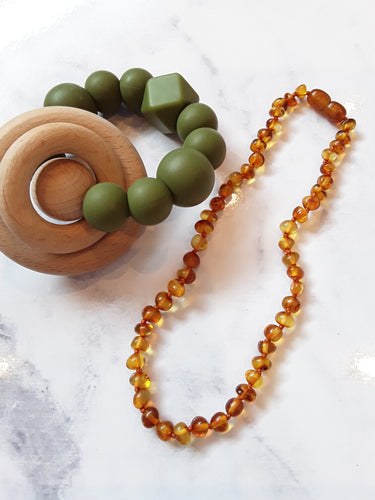 Classic Brown Cognac Baltic Amber Babies Necklace