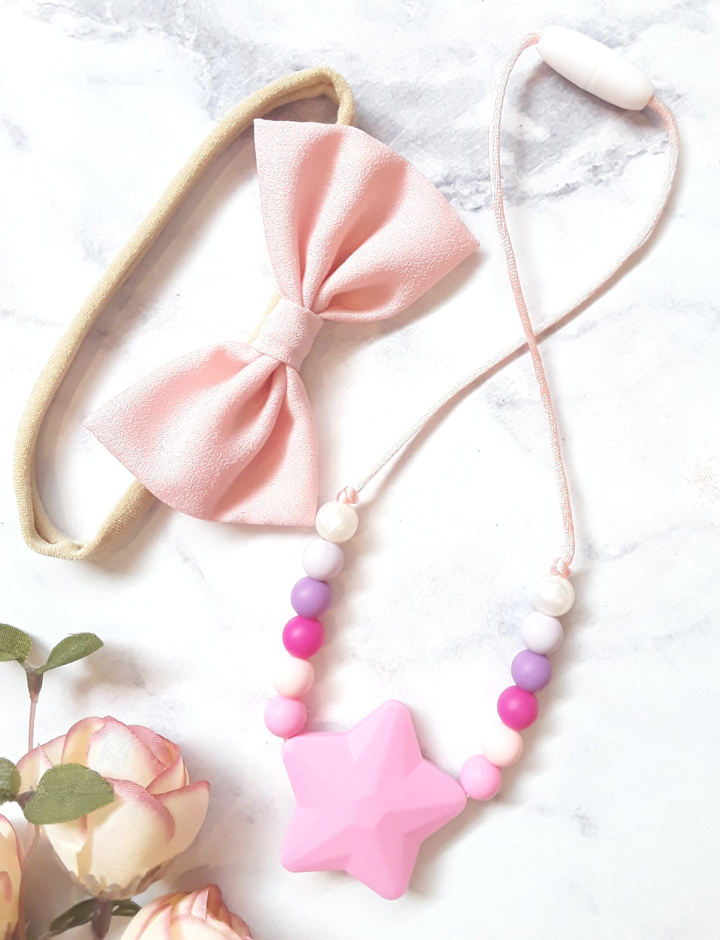 Silicone Necklace- girls - pink