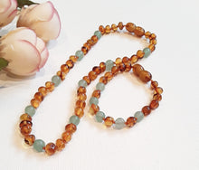 Load image into Gallery viewer, Brown Baltic Amber & Adventurine SET