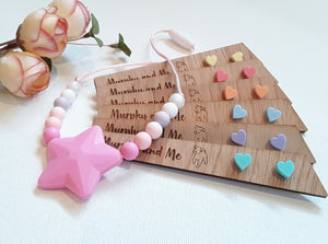 Girls Mini Pastel Heart Earrings