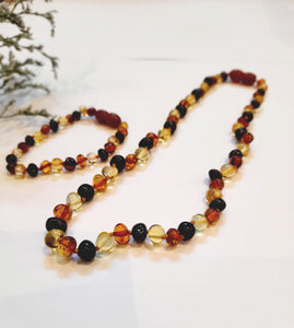 Dark Multi Baltic Amber SET