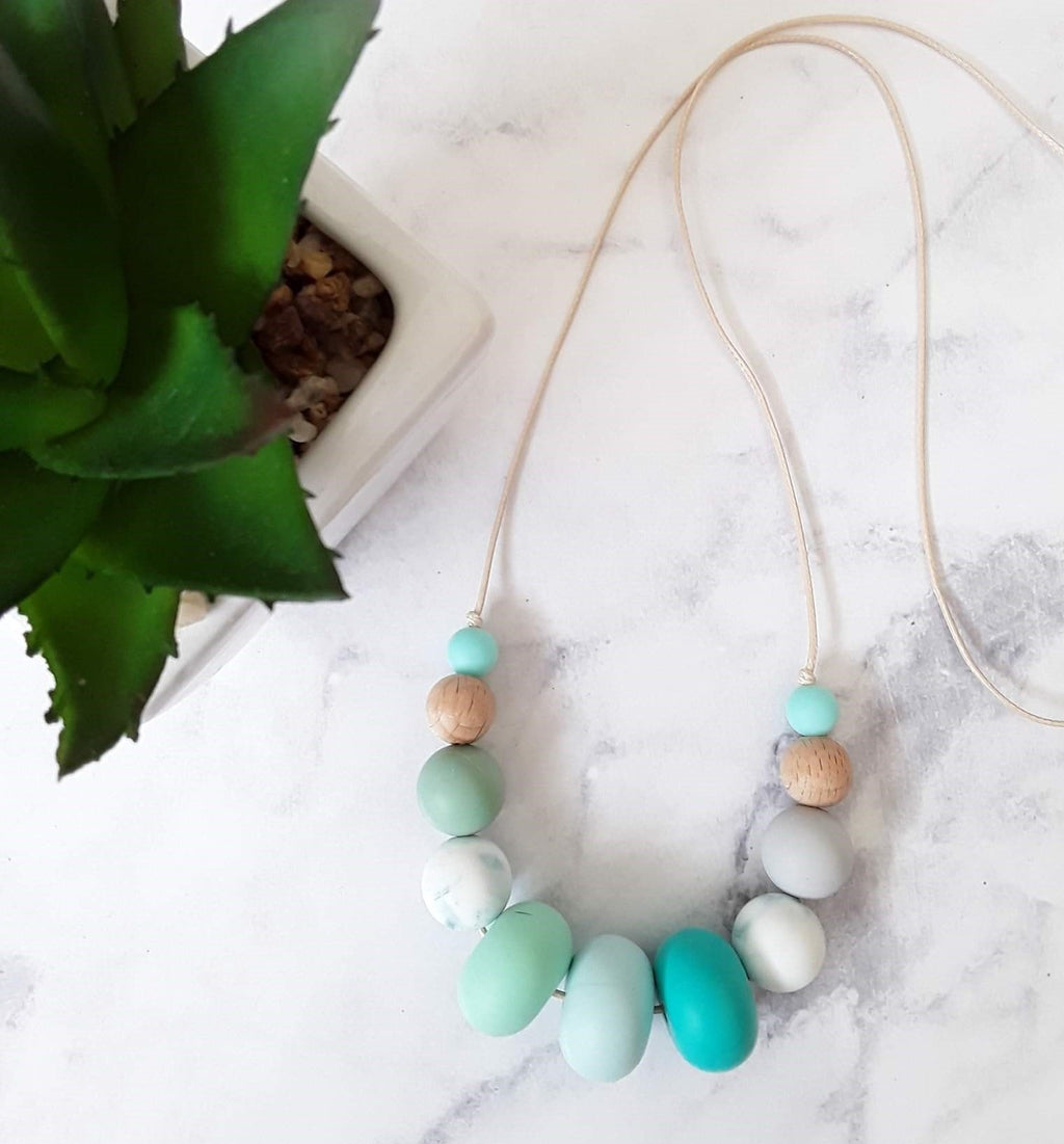 Silicone Necklace greens