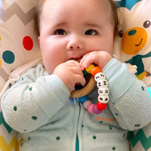 Load image into Gallery viewer, PERSONALISED Silicone & Beechwood Teething Ring