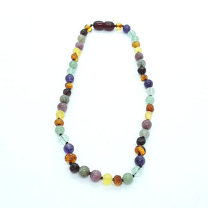 Rainbow Multi Amber & Semi Precious Stones Necklace
