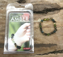 Load image into Gallery viewer, Green Baltic Amber with Moss, Agate & Peridot Bracelet/Anklet
