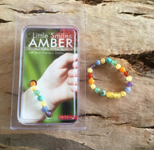 Load image into Gallery viewer, Raw Amber, Adventurine, Amethyst, Angelite Rainbow Chakra Bracelet/Anklet