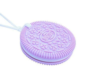Sensory Chew Biscuit Necklace - Lilac