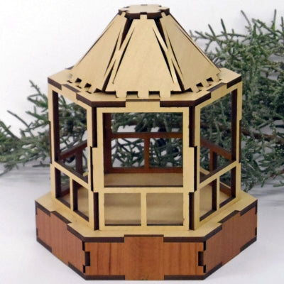 Miniature Gazebo made with Laser Jump Start's Quad Template Package