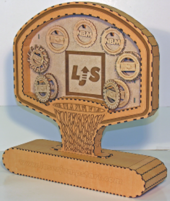 Basketball Hoop made with Laser Jump Start's Laser Jump Start Vol. III
