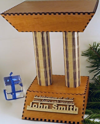 Trophy made with Laser Jump Start's Trio Template Package