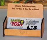 Business Card Holder made with Laser Jump Start's Laser Jump Start Vol. I.I