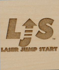 Raster Engraving on Light Hardrock side of Laser Jump Start's LJS M002
