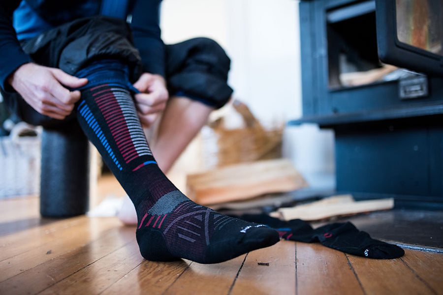 Smartwool PhD® Ski socks don't slip or bunch in your boots