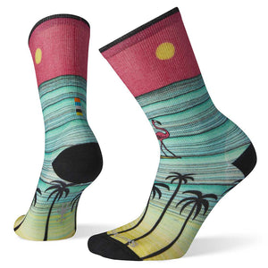 Women's Curated Surfing Flamingos Crew Socks