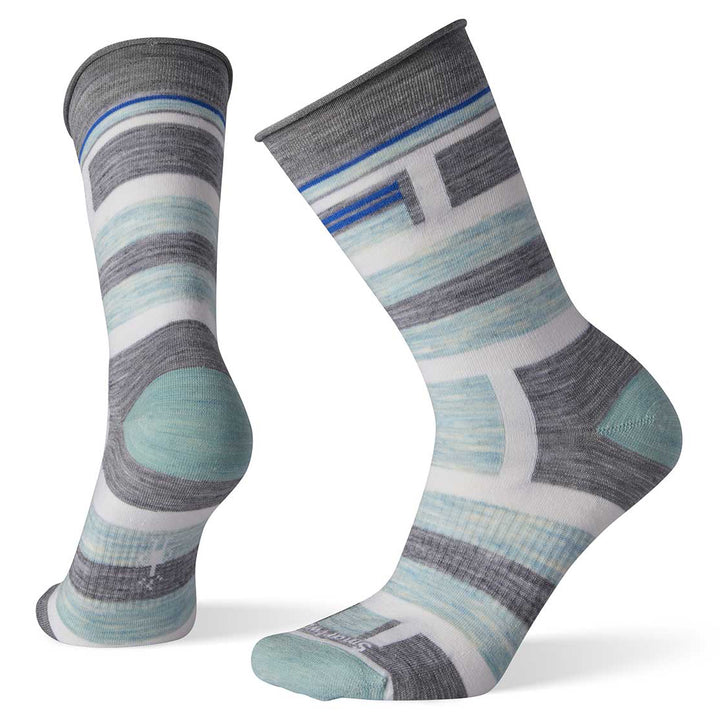 Women's Non Binding Pressure Free Striped Crew Socks