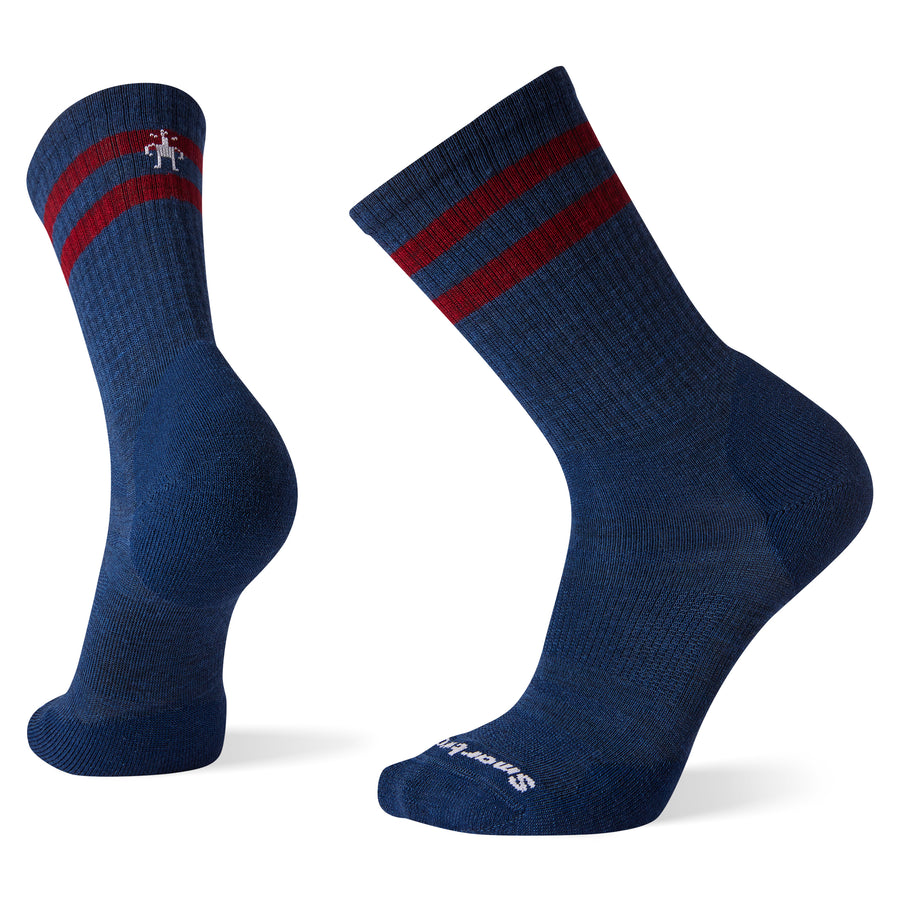 Unisex Athletic Light Elite Stripe Crew Socks