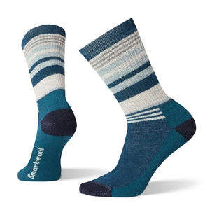 Women's Striped Hike Medium Crew Socks