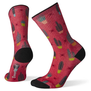 Women's Hike Light Cactus Print Crew Socks