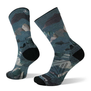 Men's PhD Outdoor Light Mountain Camo Print Crew Socks