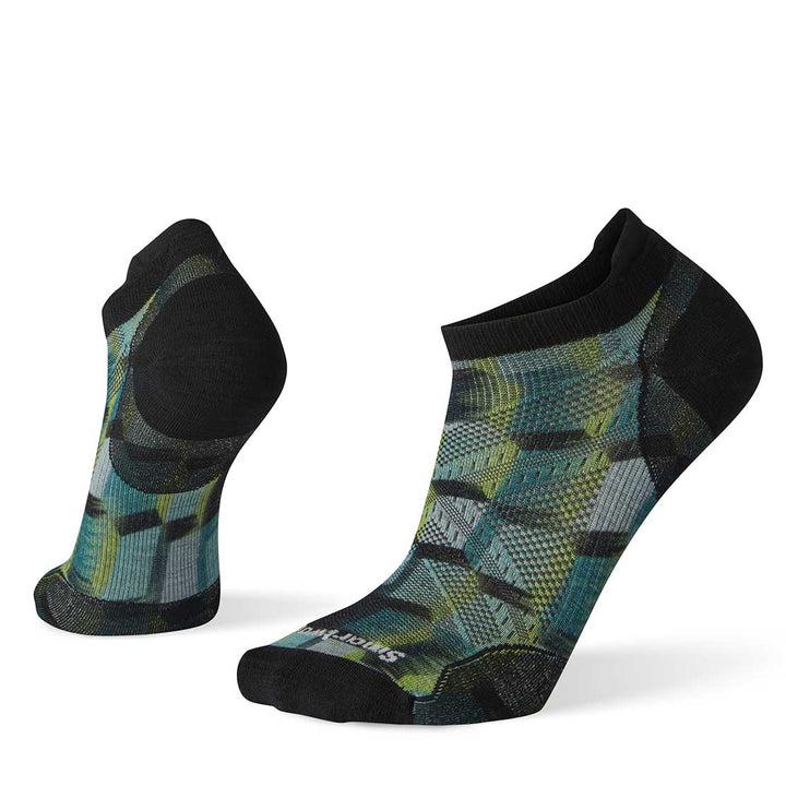 Men's PhD Run Ultra Light Stacked Block Print Micro Socks