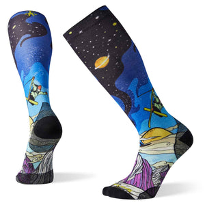 Mens PhD Ski Ultra Light Benchetler Print Socks