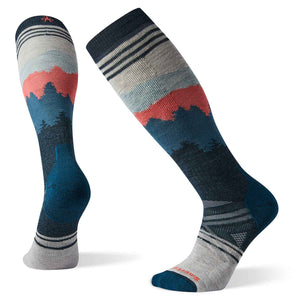 Mens PhD Ski Medium Alpenglow Pattern Socks